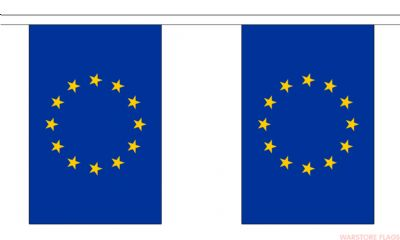 EUROPEAN UNION BUNTING - 3 METRES 10 FLAGS